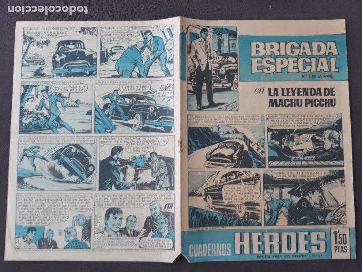 CUADERNOS HÉROES BRUGUERA Nº 11 BRIGADA ESPECIAL Nº 3 (Tebeos y Comics - Bruguera - Otros)