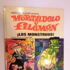 Tebeos: ASES DEL HUMOR NUM 25 MORTADELO Y FILEMON – LOS MONSTRUOS - PRIMERA EDICION. Lote 276201218