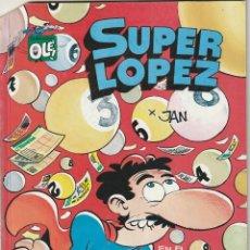 Tebeos: OLE SUPER LOPEZ Nº 12 EN EL PAIS DE LOS JUEGOS EL TUERTO ES EL REY.EDIC.B 1990 1ª REIMPRESION. Lote 276206163