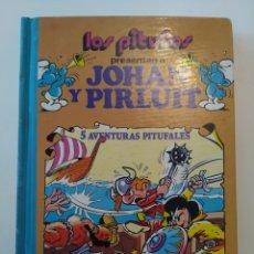 Tebeos: CÓMIC LOS PITUFOS PRESENTAN A JOHAN Y PIRLUIT. 5 AVENTURAS PITUFALES. VOLUMEN 4. BRUGUERA. 1983. Lote 276401663