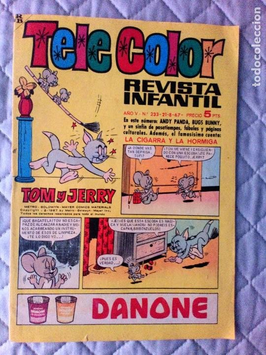 TELE COLOR Nº 233 BRUGUERA DIFÍCIL (Tebeos y Comics - Bruguera - Tele Color)