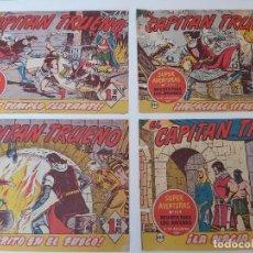 Tebeos: LOTE TEBEOS EL CAPITÁN TRUENO - 4Nº 338, 339, 341, 342, ORIGINALES 1956. Lote 276655078