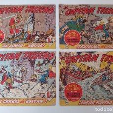 Tebeos: LOTE TEBEOS EL CAPITÁN TRUENO - 4Nº 344, 345, 346, 347, ORIGINALES 1956. Lote 276656933