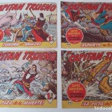 Tebeos: LOTE TEBEOS EL CAPITÁN TRUENO - 4Nº 348, 349, 350, 351, ORIGINALES 1956. Lote 276661323