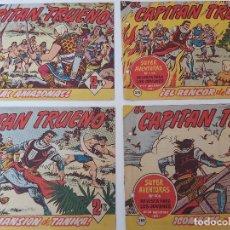 Tebeos: LOTE TEBEOS EL CAPITÁN TRUENO - 4Nº 374, 375, 377, 380, ORIGINALES 1956. Lote 276675283
