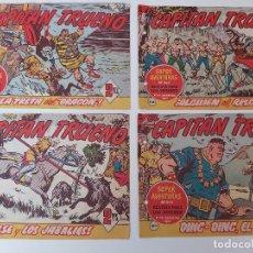Tebeos: LOTE TEBEOS EL CAPITÁN TRUENO - 4Nº 407, 408, 409, 410, ORIGINALES 1956. Lote 276679673