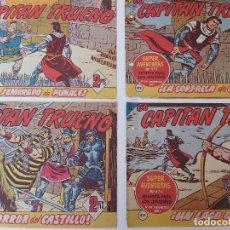 Tebeos: LOTE TEBEOS EL CAPITÁN TRUENO - 4Nº 411, 412, 413, 414, ORIGINALES 1956. Lote 276680228