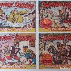 Tebeos: LOTE TEBEOS EL CAPITÁN TRUENO - 4Nº 415, 416, 417, 418, ORIGINALES 1956. Lote 276680733