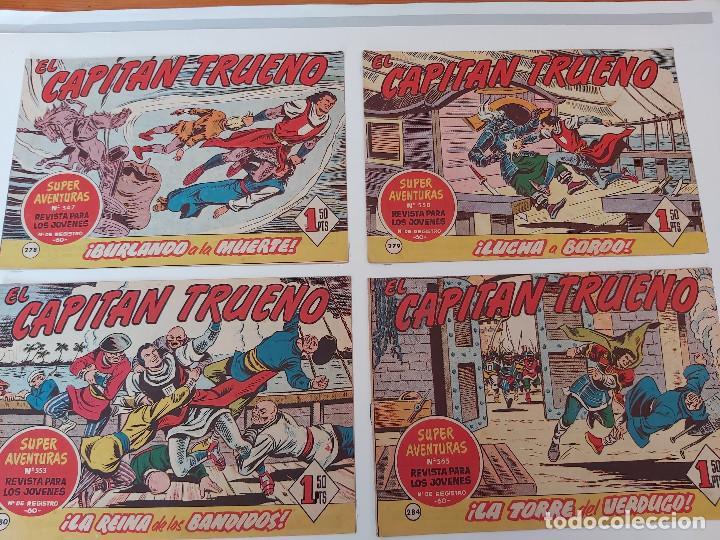 LOTE TEBEOS EL CAPITÁN TRUENO - 4Nº 278, 279, 280, 284, ORIGINALES ¡EN PERFECTO ESTADO! 1956 (Tebeos y Comics - Bruguera - Capitán Trueno)