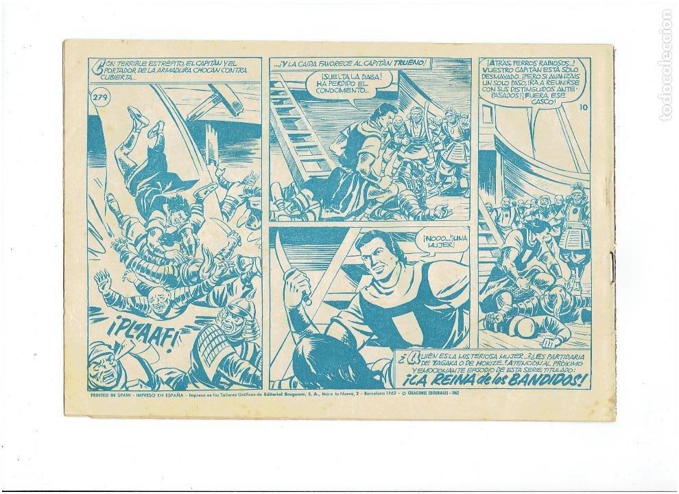 Tebeos: LOTE TEBEOS EL CAPITÁN TRUENO - 4Nº 278, 279, 280, 284, ORIGINALES ¡EN PERFECTO ESTADO! 1956 - Foto 3 - 276748178