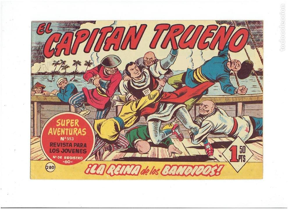 Tebeos: LOTE TEBEOS EL CAPITÁN TRUENO - 4Nº 278, 279, 280, 284, ORIGINALES ¡EN PERFECTO ESTADO! 1956 - Foto 4 - 276748178