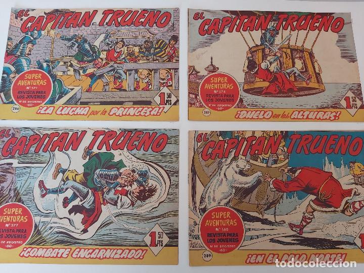 LOTE TEBEOS EL CAPITÁN TRUENO - 4Nº 286, 287, 288, 289, ORIGINALES ¡EN PERFECTO ESTADO! 1956 (Tebeos y Comics - Bruguera - Capitán Trueno)