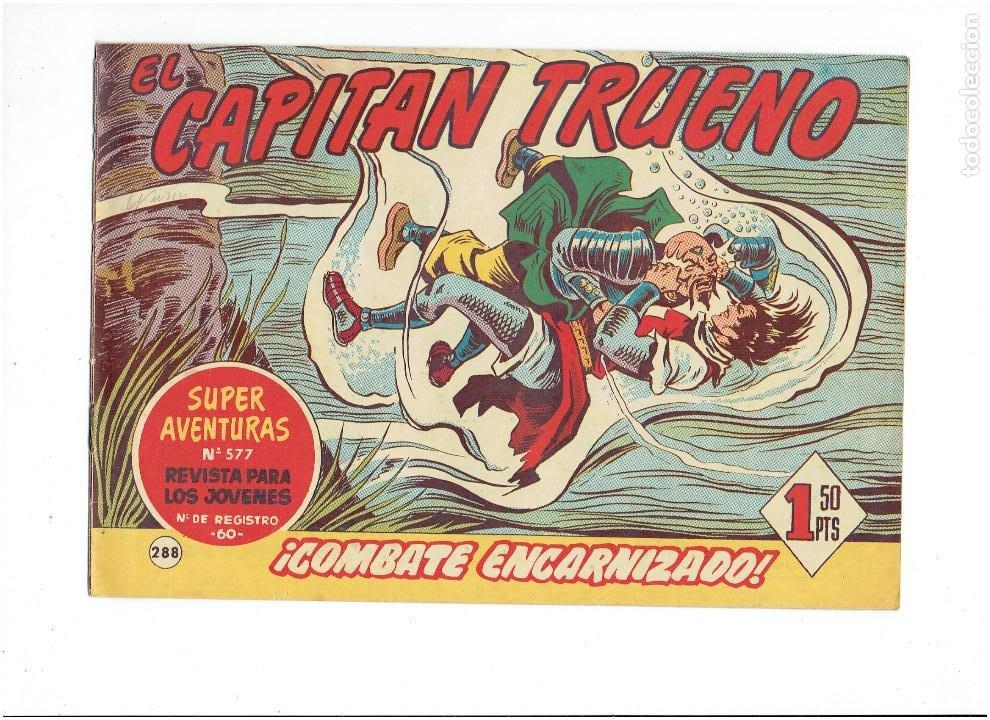Tebeos: LOTE TEBEOS EL CAPITÁN TRUENO - 4Nº 286, 287, 288, 289, ORIGINALES ¡EN PERFECTO ESTADO! 1956 - Foto 4 - 276748483