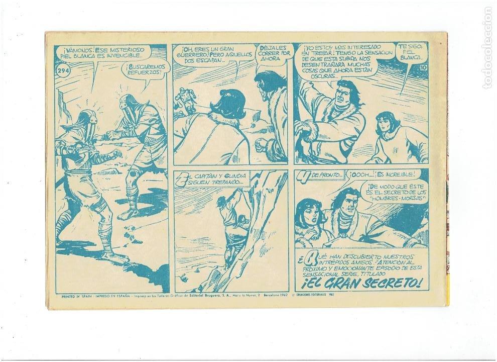 Tebeos: LOTE TEBEOS EL CAPITÁN TRUENO - 4Nº 291, 292, 293, 294, ORIGINALES ¡EN PERFECTO ESTADO! 1956 - Foto 5 - 276748753