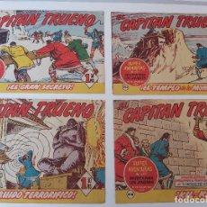 Tebeos: LOTE TEBEOS EL CAPITÁN TRUENO - 4Nº 295, 296, 297, 298, ORIGINALES ¡EN PERFECTO ESTADO! 1956. Lote 276749018