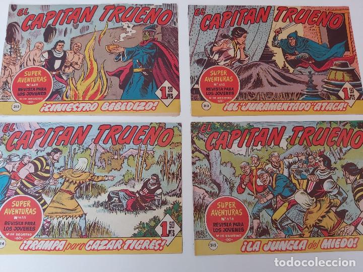 LOTE TEBEOS EL CAPITÁN TRUENO - 4Nº 312, 313, 314, 315, ORIGINALES ¡EN PERFECTO ESTADO! 1956 (Tebeos y Comics - Bruguera - Capitán Trueno)