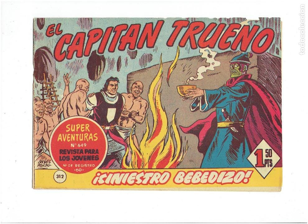Tebeos: LOTE TEBEOS EL CAPITÁN TRUENO - 4Nº 312, 313, 314, 315, ORIGINALES ¡EN PERFECTO ESTADO! 1956 - Foto 2 - 276750093