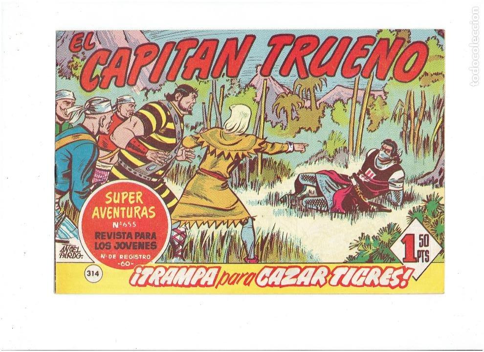 Tebeos: LOTE TEBEOS EL CAPITÁN TRUENO - 4Nº 312, 313, 314, 315, ORIGINALES ¡EN PERFECTO ESTADO! 1956 - Foto 4 - 276750093