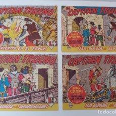 Tebeos: LOTE TEBEOS EL CAPITÁN TRUENO - 4Nº 341, 342, 343, 344, ORIGINALES ¡EN PERFECTO ESTADO! 1956. Lote 276754338