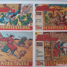 Tebeos: LOTE TEBEOS EL CAPITÁN TRUENO - 4Nº 557, 574, 584, 590, ORIGINALES ¡EN PERFECTO ESTADO! 1956. Lote 276755108
