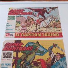 Tebeos: LOTE TEBEOS EL CAPITÁN TRUENO - 2Nº 593, 613, ORIGINALES ¡EN PERFECTO ESTADO! 1956. Lote 276755368