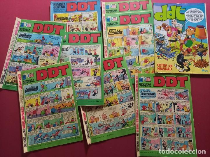 LOTE DE 9 DDT - BRUGUERA -VER DESCRIPCCION Y NUMERACION (Tebeos y Comics - Bruguera - DDT)