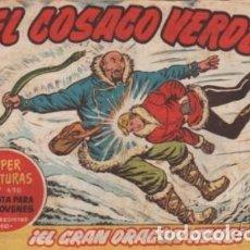 Tebeos: EL COSACO VERDE-CUADERNILLO SEMANAL ORIGINAL- Nº 137 -ELGRAN DRAGÓN AZUL-1962-F.COSTA-BUENO-LEA-5263. Lote 276816883
