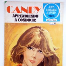 Tebeos: JOYAS LITERARIAS JUVENILES SERIE AZUL 61. CANDY. APRENDIENDO A CONDUCIR. BRUGUERA, 1981. OFRT. Lote 276908083