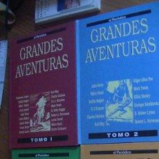 Tebeos: GRANDES AVENTURAS, CUATRO 4 TOMOS, EL PERIODICO, COMPLETO Y ENCUADERNADO, JOYAS LITERARIAS BRUGUERA. Lote 277011028