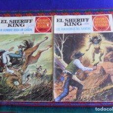 Tebeos: EL SHERIFF KING 34 UN HOMBRE ROBA CAÑÓN. GRANDES AVENTURAS JUVENILES 1972 1ª ED. REGALO Nº 10 2ª ED.. Lote 277055843