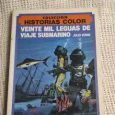 Tebeos: VEINTE MIL LEGUAS DE VIAJE SUBMARINO / JULIO VERNE, COLECCIÓN HISTORIAS COLOR -ED. BRUGUERA. Lote 277057793