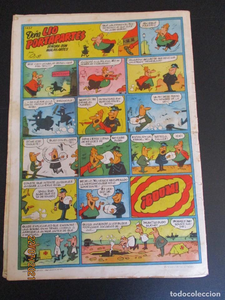 Tebeos: PULGARCITO (1946, BRUGUERA) 1437 · 17-XI-1958 · PULGARCITO - Foto 3 - 277067288