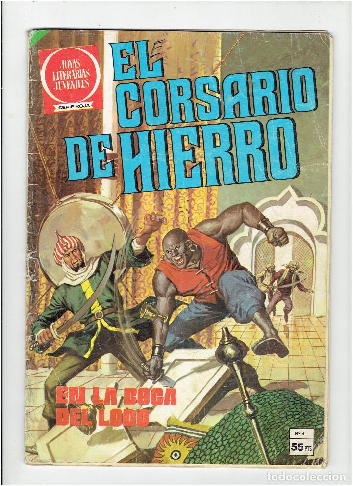 ARCHIVO * EL CORSARIO DE HIERRO Nº 4 - JOYAS LITERARIAS JUVENILES * SERIE ROJA * BRUGUERA 1980 * (Tebeos y Comics - Bruguera - Joyas Literarias)