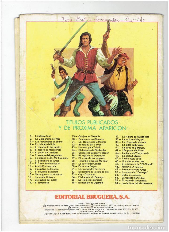 Tebeos: Archivo * EL CORSARIO DE HIERRO Nº 4 - JOYAS LITERARIAS JUVENILES * SERIE ROJA * BRUGUERA 1980 * - Foto 2 - 277091968