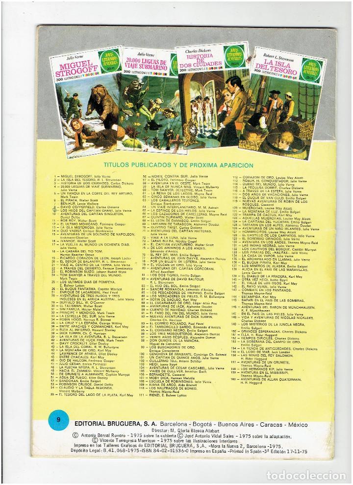 Tebeos: Archivo * JOYAS LITERARIAS JUVENILES Nº 9. LOS HIJOS DEL CAPITAN GRANT. JULIO VERNE. 3ª ED. 1975. - Foto 3 - 277097763