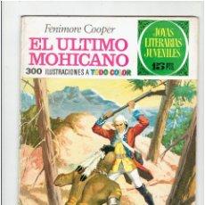 Tebeos: ARCHIVO * JOYAS LITERARIAS JUVENILES * Nº 12 EL ULTIMO MOHICANO * EDI BRUGUERA AÑO 1970 *. Lote 277098668