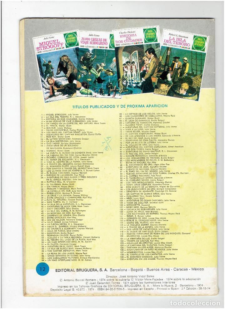 Tebeos: Archivo * JOYAS LITERARIAS JUVENILES * Nº 12 EL ULTIMO MOHICANO * EDI BRUGUERA AÑO 1970 * - Foto 3 - 277098668