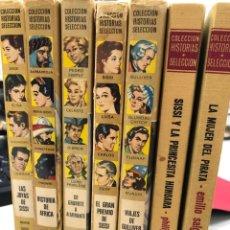 Tebeos: LOTE 7 LIBROS CÓMICS COLECCIÓN HISTORIAS SELECCIÓN BRUGUERA SISSI GULLIVER SALGARI. Lote 277154863