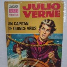 Tebeos: JULIO VERNE - UN CAPITAN DE QUINCE AÑOS - COL. HISTORIAS SELECCION - AÑO 1978 BRUGUERA. Lote 277240308