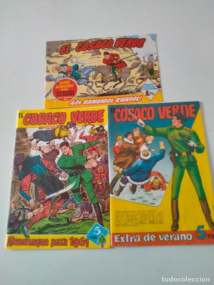 LOTE EL COSACO VERDE ALMANAQUE, EXTRA Y FACSÍMIL REEDICIÓN EDITORIAL BRUGUERA (Tebeos y Comics - Bruguera - Cosaco Verde)