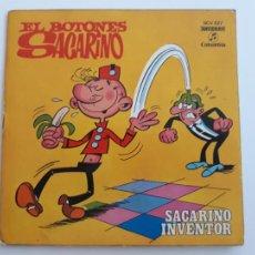 """Tebeos: EL BOTONES SACARINO BRUGUERA 7"""" SINGLE TEBEO AÑO 1971. Lote 277294933"""