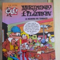 Livros de Banda Desenhada: OLÉ LA MÁQUINA DEL CAMBIAZO N.96 MORTADELO Y FILEMON. Lote 277502133
