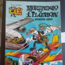 Livros de Banda Desenhada: OLÉ SECUESTRO AÉREO N.41 MORTADELO Y FILEMON. Lote 277509203