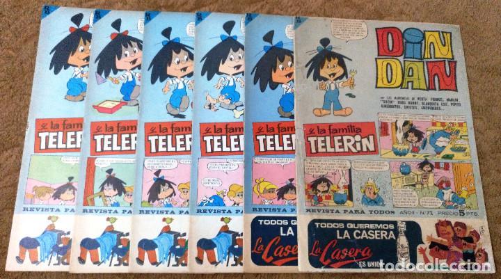 DIN DAN Nº 72, 75, 76, 77, 78 Y 79 (BRUGUERA 1ª EPOCA 1966) 6 TEBEOS. (Tebeos y Comics - Bruguera - Din Dan)