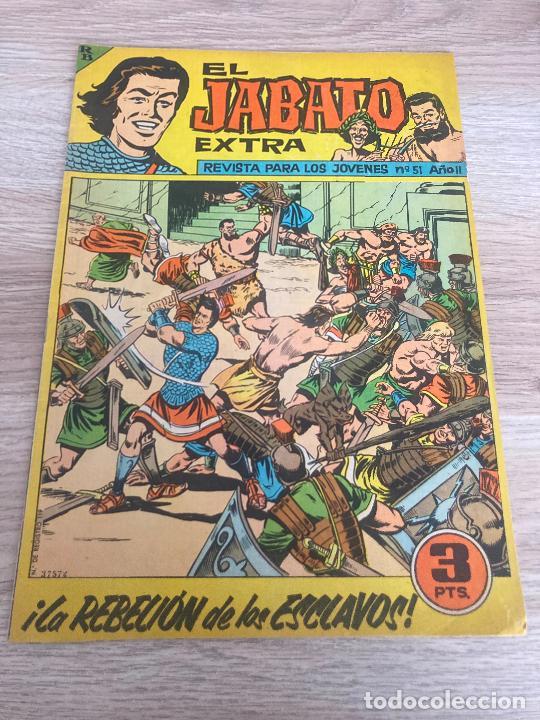 EL JABATO EXTRA Nº 51. ULTIMO NUMERO DE LA COLECCION Y ORIGINAL. BRUGUERA 1963 (Tebeos y Comics - Bruguera - Jabato)