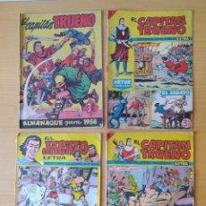 Tebeos: LOTE 4 COMICS, CAPITAN TRUENO Y EL JABATO. ORIGINALES. Lote 277727563