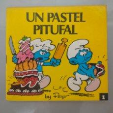 Tebeos: MINICUENTOS PITUFOS N°1 UN PASTEL PITUFAL 1981 BRUGUERA. Lote 278349463