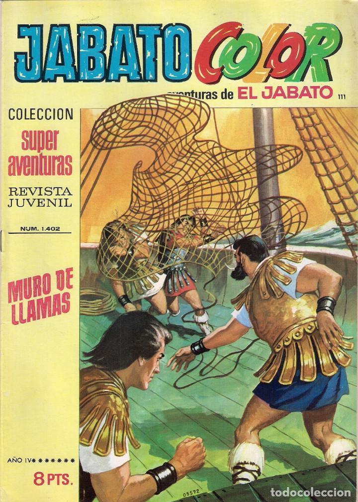 JABATO COLOR. 1ª ÉPOCA. Nº 111 MURO DE LLAMAS . 8 PESETAS (Tebeos y Comics - Bruguera - Jabato)