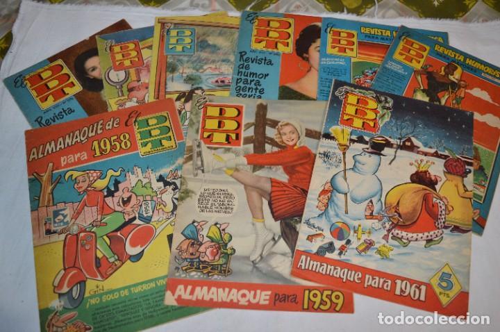 DDT - BRUGUERA / ORIGINAL AÑOS 50 / 60 - 3 ALMANAQUES + 6 REVISTAS/COMICS ¡MIRA FOTOS Y DETALLES! (Tebeos y Comics - Bruguera - DDT)
