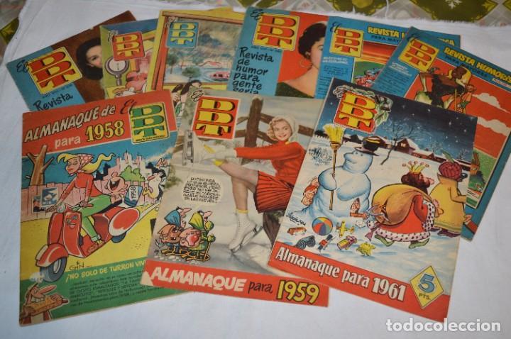 Tebeos: DDT - Bruguera / Original años 50 / 60 - 3 ALMANAQUES + 6 Revistas/Comics ¡Mira fotos y detalles! - Foto 2 - 279460793